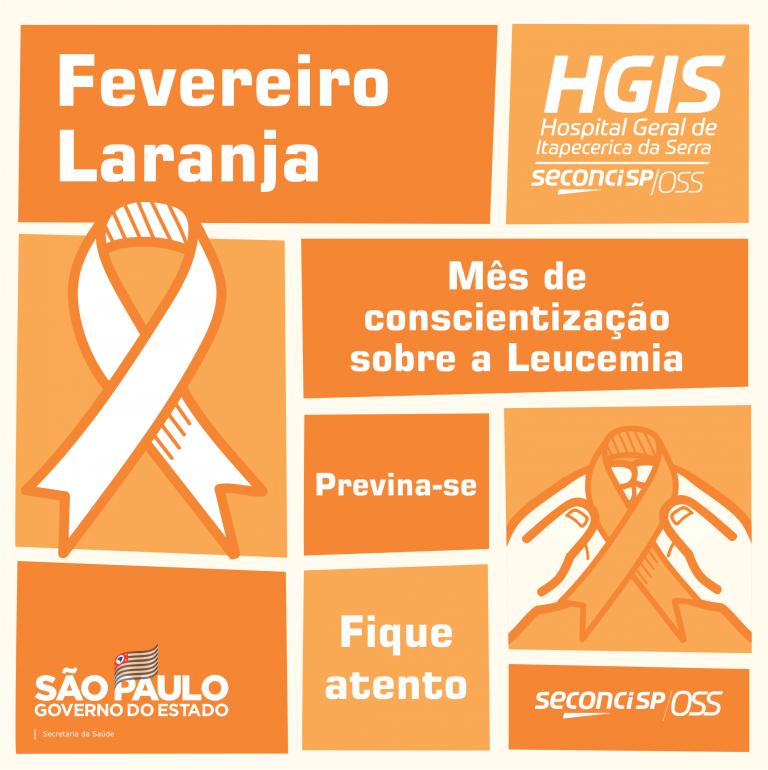 Fevereiro Laranja - Mês da conscientização sobre a Leucemia