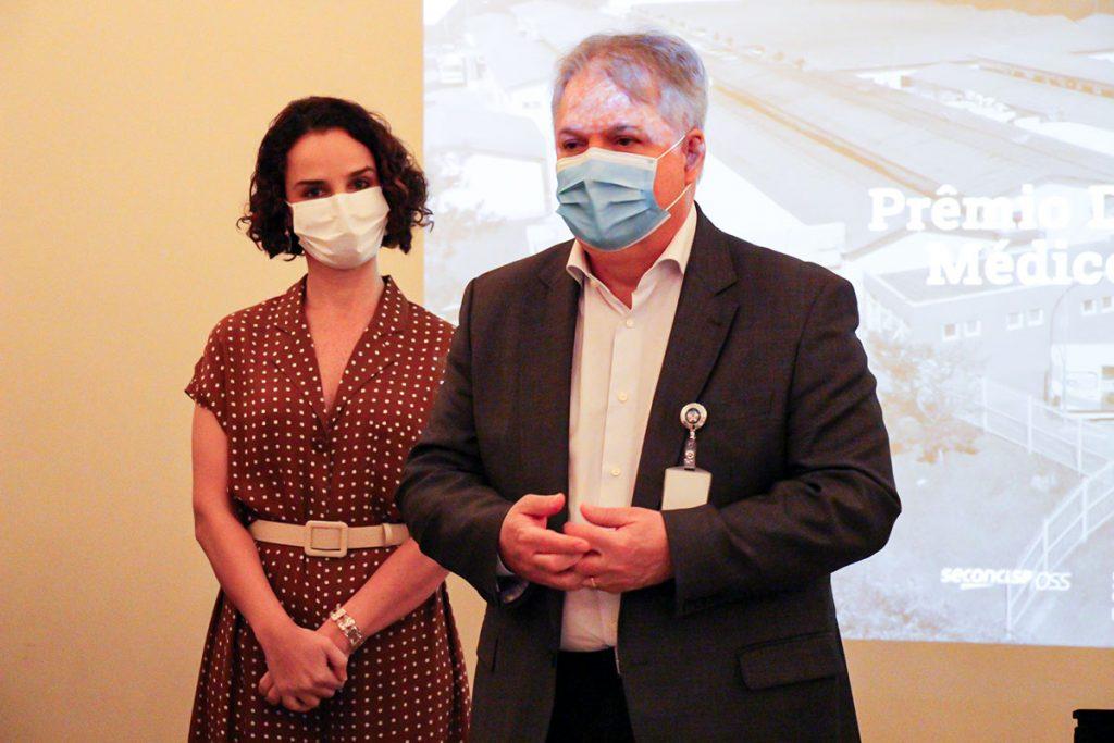 Dra. Najara Andrade e Dr. Didier Ribas