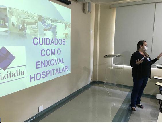 Treinamento reforça o cuidado com o enxoval hospitalar